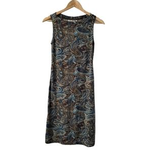 LA Belle Vintage Retro Soft Paisley Sheath Dress